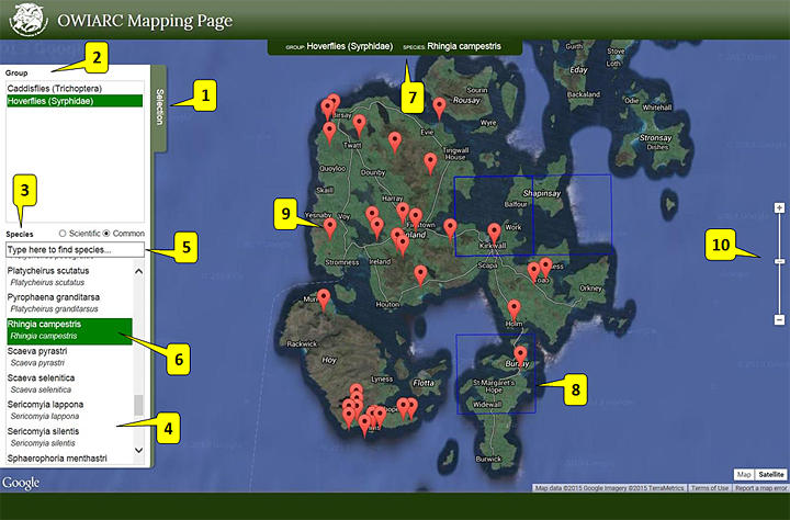 The OWIARC Mapping Page