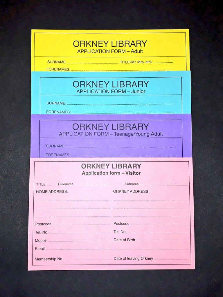 Library membership cards
